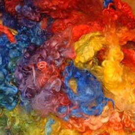English Leicester Rainbow Dyed Fleece